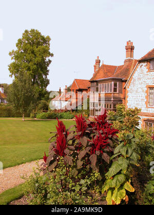 The garden of Gilbert White's house, The Wakes, in Selborne, Hampshire, UK - Stock Photo