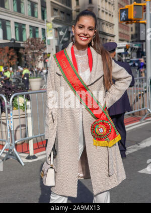 100th Annual Veterans Day Parade in New York City on November 11, 2019 - Stock Photo