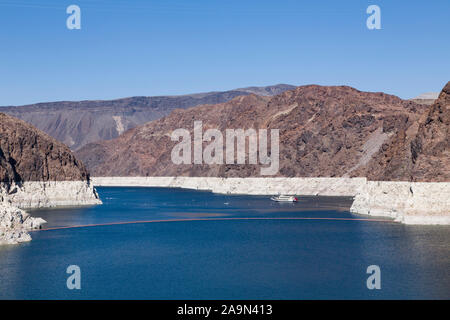 NEVADA, USA - May 21, 2012. Low water level during a period of drought at Lake Mead, Nevada and Arizona. - Stock Photo
