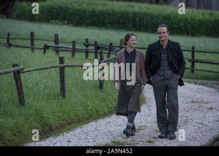 RELEASE DATE: January 17, 2020 TITLE: A Hidden Life STUDIO: Fox Searchlight DIRECTOR: Terrence Malick PLOT: The Austrian St. Franz Jagerstatter, a conscientious objector, refuses to fight for the Nazis in World War II. STARRING: VALERIE PACHNER, AUGUST DIEHL as Franz Jagerstatter. (Credit Image: © Fox Searchlight/Entertainment Pictures) - Stock Photo