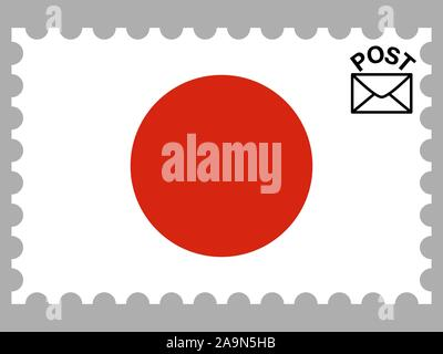 National flag of Japan . original colors and proportion. Simply vector illustration, from countries flag set. - Stock Photo