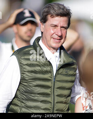 A CORUNA, SPAIN - JULY 19: Cayetano Martinez de Irujo attend during CSI Casas Novas Horse Jumping Competition on July 19, 2019 in A Coruna, Spain - Stock Photo
