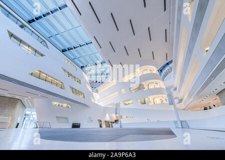 Library and Learning Center of Vienna University of Economics and Business. Vienna, Austria - Stock Photo