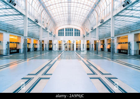 Austrian Postal Savings Bank, OEsterreichische Postsparkasse, designed and built by Otto Wagner, Vienna, Austria - Stock Photo