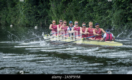 Henley-on-Thames. United Kingdom.   Ladies Challenge Plate. Oxford Brookes University and Taurus Boat Club. 2017 Henley Royal Regatta, Henley Reach, River Thames.   16:20:22  Saturday  01/07/2017     [Mandatory Credit. Peter SPURRIER/Intersport Images. - Stock Photo