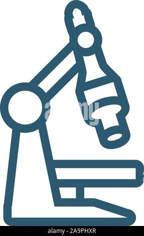 science microscope research line style icon vector illustration - Stock Photo