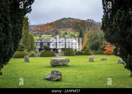 Plas Newydd at Llangollen. - Stock Photo