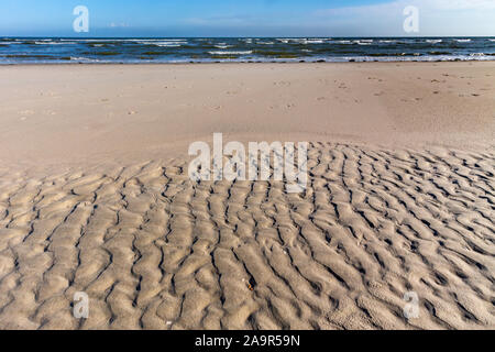 Beach and North Sea on a summer day on Juist, East Frisian Islands, Germany. - Stock Photo