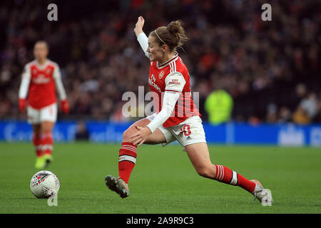 London, UK. 17th Nov, 2019. Kim Little of Arsenal Women in action. Barclays FA Women's super league match, Tottenham Hotspur women v Arsenal women at The Tottenham Hotspur Stadium in London on Sunday 17th November 2019. this image may only be used for Editorial purposes. Editorial use only, license required for commercial use. No use in betting, games or a single club/league/player publications . pic by Steffan Bowen/Andrew Orchard sports photography/Alamy Live news Credit: Andrew Orchard sports photography/Alamy Live News - Stock Photo
