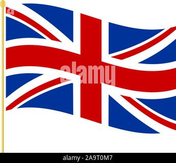 United Kingdom of great Britain and Northern Ireland flagpole icon. - Stock Photo