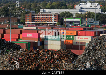 Metal recycling, Port of Southampton, Hampshire, England, United Kingdom - Stock Photo