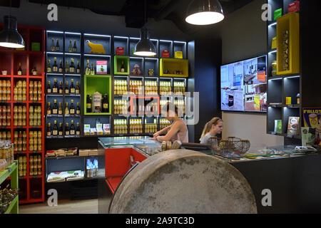 The Edmond Fallot mustard store, Dijon FR - Stock Photo