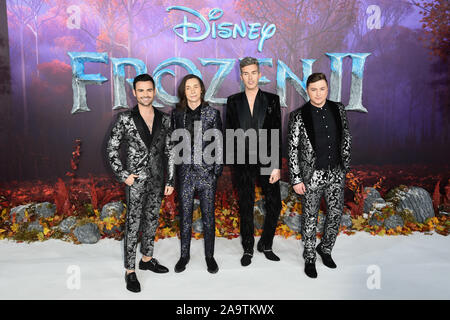 London, UK. 17th Nov, 2019. LONDON, UK. November 17, 2019: Collabro arriving for the 'Frozen 2' European premiere at the BFI South Bank, London. Picture: Steve Vas/Featureflash Credit: Paul Smith/Alamy Live News - Stock Photo