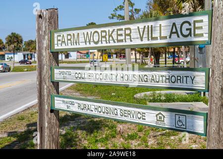 Florida, FL, South, Collier County, Immokalee, Farm Worker Village, sightseeing visitors travel traveling tour tourist tourism landmark international, - Stock Photo