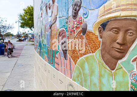 Florida, FL, South, Collier County, Immokalee, mural, tile, mosaic, art, sightseeing visitors travel traveling tour tourist tourism landmark internati - Stock Photo