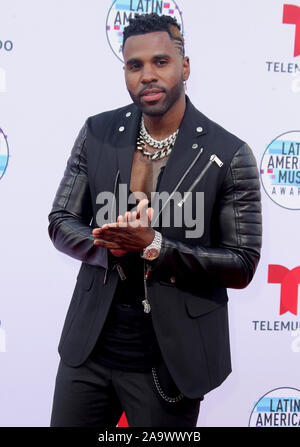 Latin American Music Awards 2019 held at the Dolby Theatre in Hollywood, California. Featuring: Jason Derulo Where: Los Angeles, California, United States When: 17 Oct 2019 Credit: Adriana M. Barraza/WENN.com - Stock Photo