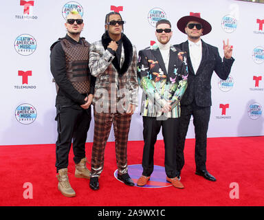 Latin American Music Awards 2019 held at the Dolby Theatre in Hollywood, California. Featuring: Piso 21 Where: Los Angeles, California, United States When: 17 Oct 2019 Credit: Adriana M. Barraza/WENN.com - Stock Photo