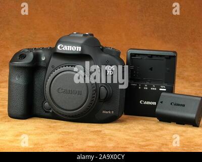 Vintage Canon EOS7D Mark 2 digital camera. - Stock Photo