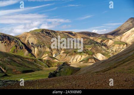 Europa, Island, südliches Hochland, Landmannalaugar - Stock Photo
