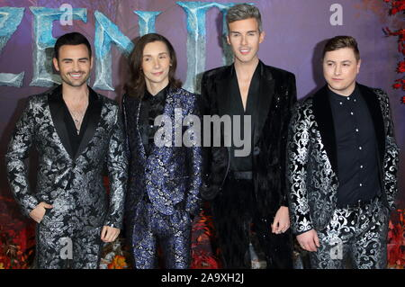 London, UK. 17th Nov, 2019. Collabro attend the 'Frozen 2' European premiere at BFI Southbank in London. Credit: SOPA Images Limited/Alamy Live News - Stock Photo