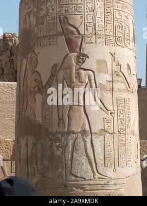 Kom Ombo in Egypt: the Sobek Temple - Stock Photo