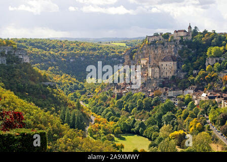 Rocamadour from l'Hospitalet - Stock Photo