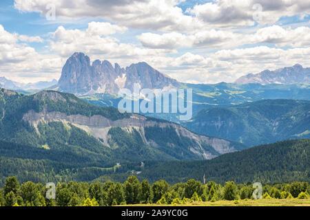 Scenic mountains view in the Italian Dolomites - Stock Photo
