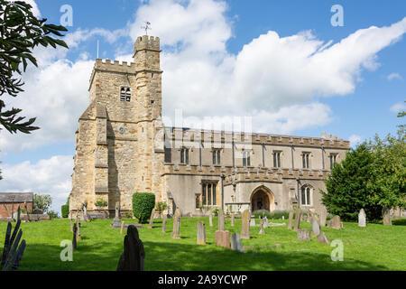 St Michael and All Angels' Church, High Street, Waddesdon, Buckinghamshire, England, United Kingdom - Stock Photo