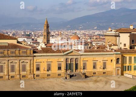 View on Oltrarno with Pallazzo Porto and Basilica di Santa Spirito
