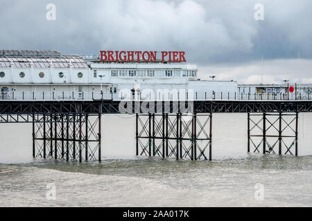 The Brighton Palace Pier, commonly known as Brighton Pier or the Palace Pier is a Grade II listed pleasure pier in Brighton, England, UK.