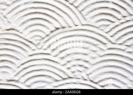 Historic British plaster decoration on a white wall - Stock Photo