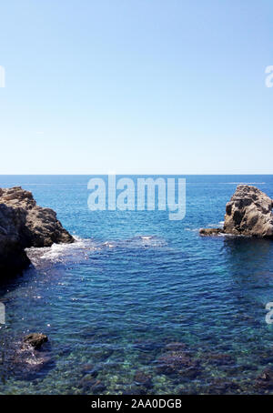 View of the small bay between the fortress Lovrijenac and the old town of Dubrovnik, Croatia - Stock Photo