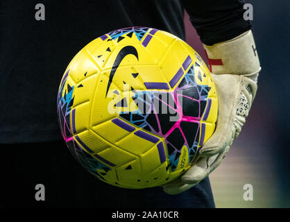 London, UK. 14th Nov, 2019. Nike football pre match during the UEFA Euro 2020 qualifier International match between England and Montenegro at Wembley Stadium, London, England on 14 November 2019. Photo by Andy Rowland. Credit: PRiME Media Images/Alamy Live News - Stock Photo
