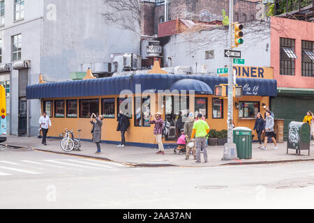 Star on 18th Diner cafe, Chelsea, New York City, United States of America. - Stock Photo