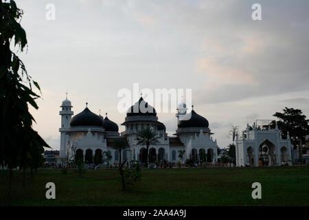 Banda Aceh, January 30, 2008. Baiturrahman Grand Mosque, before renovation - Stock Photo