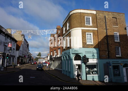 Bishops Stortford Town Centre High Street, Hertfordshire, England, UK, GB - Stock Photo