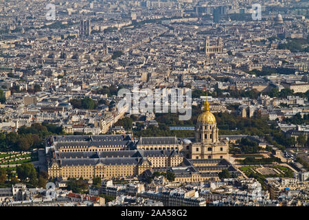 VIEW OVER PARIS FROM EIFFEL TOWER - Stock Photo