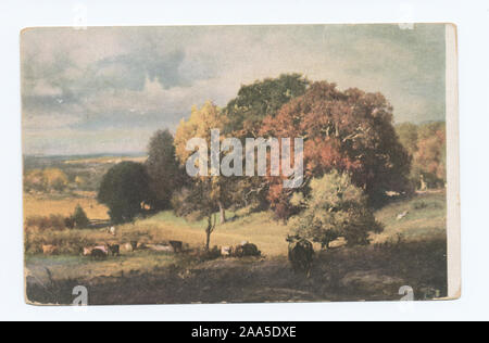 1905-1915. Known as the 'art reproduction' series.; Autumn Oaks, George Innes NA - Stock Photo