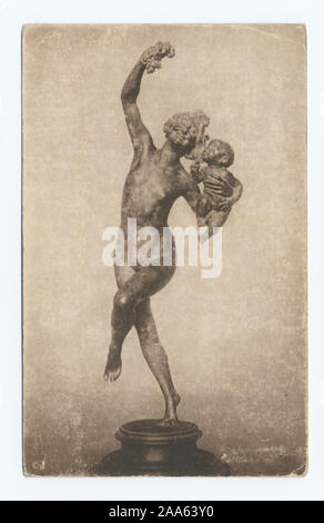 1905-1915. Known as the 'art reproduction' series.; Bacchante, F. W. MacMonnies - Stock Photo