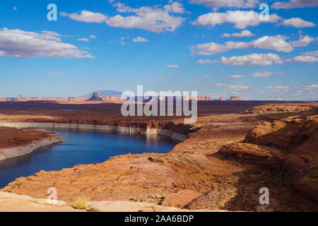 The beautiful colors of Autumn in the Lake Powell area of Northern Arizona. - Stock Photo