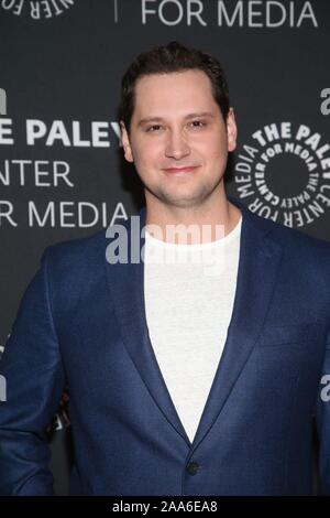 Beverly Hills Ca. 19th Nov, 2019. Matt McGorry attends the How to Get Away with Murder' TV show screening, The Paley Center for Media, Beverly Hills California Credit: Faye Sadou/Media Punch/Alamy Live News - Stock Photo