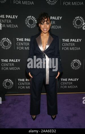 Beverly Hills Ca. 19th Nov, 2019. Amirah Vann attends the How to Get Away with Murder' TV show screening, The Paley Center for Media, Beverly Hills California Credit: Faye Sadou/Media Punch/Alamy Live News - Stock Photo