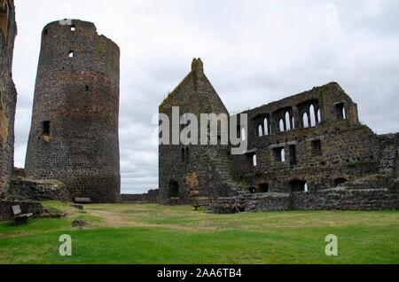 Münzenberg Castle, Wetteraukreis, Hesse, Germany, Europe - Stock Photo