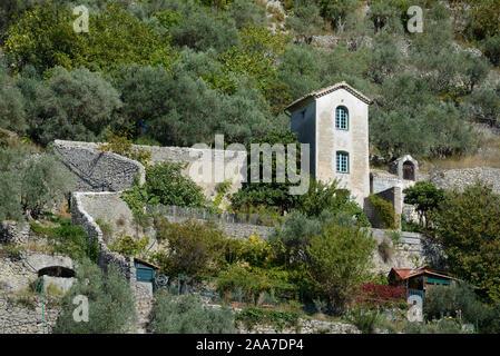 Tiny House & Walled Garden in the Var Valley Entrevaux Alpes-de-Haute-Provence - Stock Photo