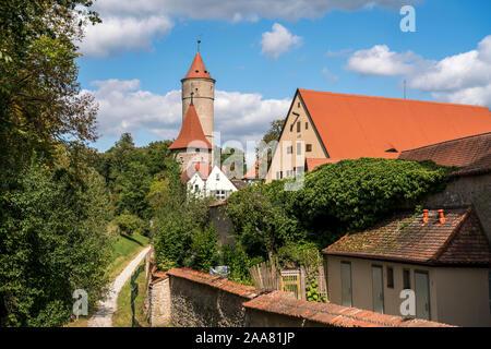 Die Altstadt in Dinkelsbühl, Mittelfranken, Bayern, Deutschland  |  The Old Town in Dinkelsbühl, Middle Franconia, Bavaria, Germany, Europe - Stock Photo