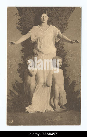 1905-1915. Known as the 'art reproduction' series.; Caritas, Abbott H. Thayer - Stock Photo