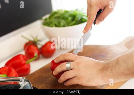 Zubereitung gefüllte Paprika - Stock Photo