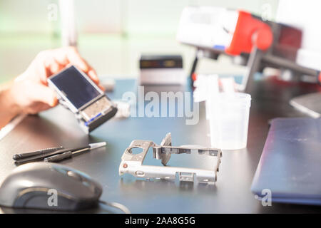 repair of photo camera in services support - Stock Photo