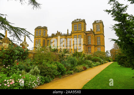 Hardwick Hall, an Elizabethan country house near Chesterfield, Derbyshire, England, UK - Stock Photo