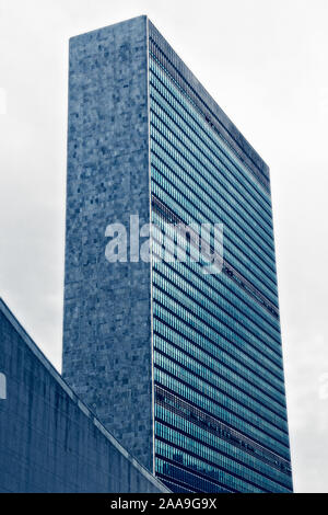 Headquarters of the United Nations, New York, USA - Stock Photo